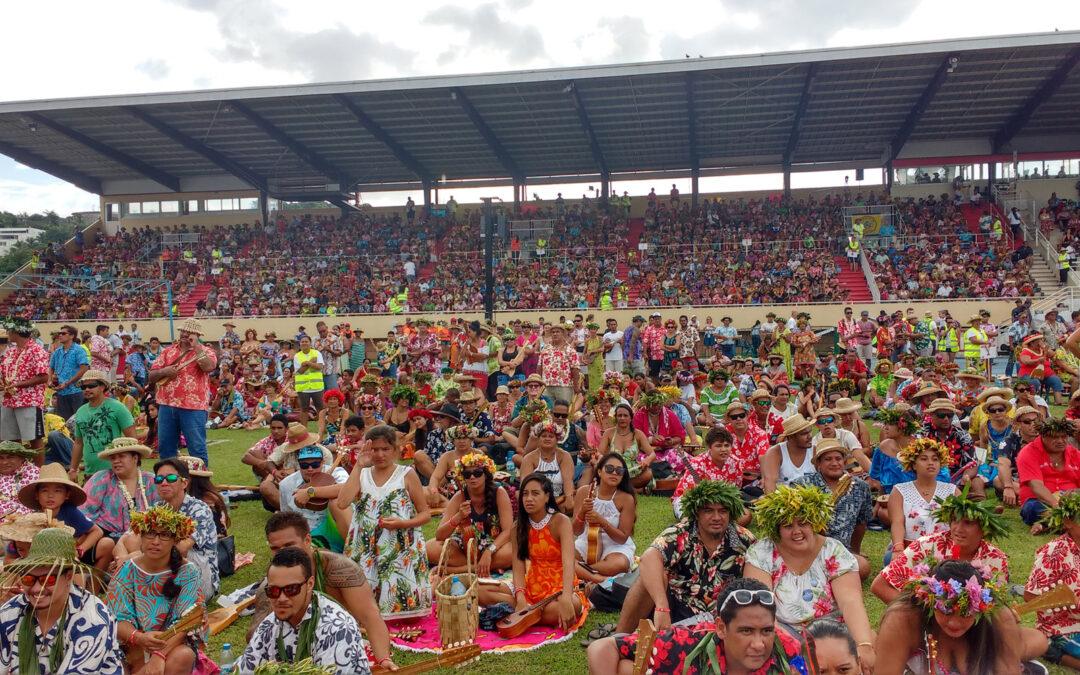 Record du monde de ukulele : la tentative de tahiti en 2018 !